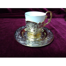Coffee couple (saucer subcoffee pot)